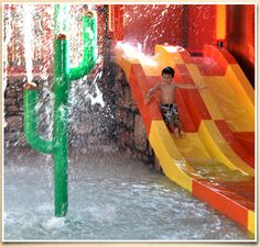 Rocking Horse Ranch   Big Splash Indoor Water Park–Twin Racers, Fountains and Geysers