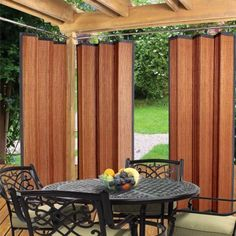 Easy Glide Indoor Outdoor Patio Bamboo Ring Top Window Curtain Panel Espresso in Home & Garden, Window Treatments & Hardware, Curtains, Drapes & Valances Outdoor Gazebos, Outdoor Privacy, Outdoor Spaces, Outdoor Living, Outdoor Decor, Indoor Outdoor, Outdoor Ideas, Gazebo Curtains, Bamboo Curtains