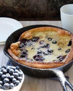 Brown Butter Blueberry Dutch Baby | http://thekitchenpaper.com/brown-butter-blueberry-dutch-baby/