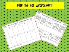 Pete the Cat Counts Buttons math workstation assessment