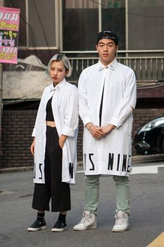 http://chicerman.com  billy-george:  Lab Coat Stylin  Spotted at Seoul Fashion Week  Photo by Carl Jones Sol-Sol Street  #streetstyleformen