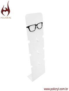 67dbe83d4 Suporte de óculos em acrílico branco, perfeito para a sua loja. Glasses  support in