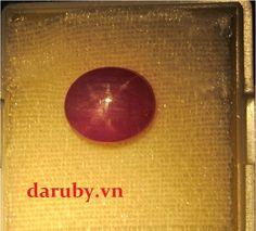 Đá ruby sao DRS009, đá ruby tự nhiên 100%