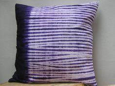 Shibori Striped Pillow  Decorative pillow Cover by AddisonMade, $50.00