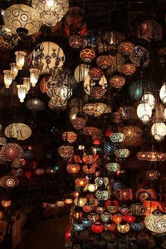 Lanterns at the Grand Bazaar in Istanbul.