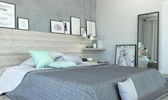 Bedroom with mint  Małgorzata Sznapka architekt wnętrz | sypialnia z nutą mięty