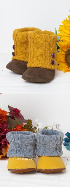 Annmarie Baby Boots PDF Pattern - ithinksew.com