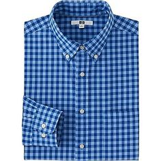 Men's Extra Fine Cotton Broadcloth Checked Dress Shirt