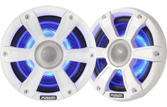 """Fusion SG-FL656SPW LED Marine 6.5"""""""" Speakers White Sports Grill"""