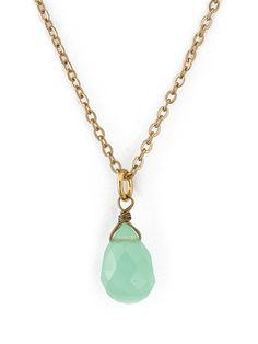 Calcedony Tear Drop Semi Precious Necklace | Jewelry | New & Now's Accessories | American Apparel 25$