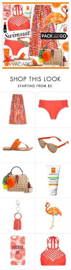 """Pack and Go:  Labor Day"" by calamity-jane-always ❤ liked on Polyvore featuring Emilio Pucci, Mikoh, Steve Madden, Carrera, Dolce&Gabbana, La Roche-Posay, Rebecca Minkoff, Kate Spade, Sachajuan and swimsuit"