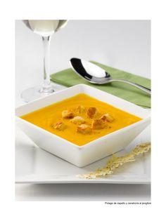 Sopa de zapallo y zanahoria al jengibre
