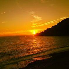 Sunset in #Bonassola Italy, Celestial, Sunset, Outdoor, Outdoors, Italia, Sunsets, Outdoor Games, Outdoor Life