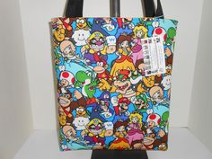 Tote Bag Nintendo Super Mario & Friends Cotton Fabric Handmade Handbag New #Handmade #TotesShoppers Find at: www.stores.ebay.com/momshandmadecrafts