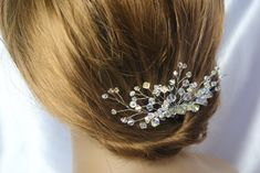 Bridal Swarovski hair comb Crystal AB hair comb Wedding Hair comb Vintage Style hair Accessories Swarovski AB Bridal Hair Comb