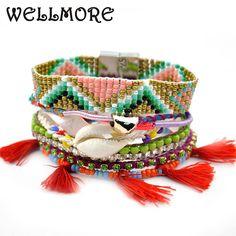 beads bracelet shell tassel charm bracelets handmade wrap Bracelet for women jewelry wholesale