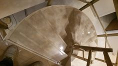 Staircase in Avante Marble from the top.