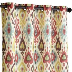 "Ikat Curtain - Vibrant 108"" for the guest bedroom"