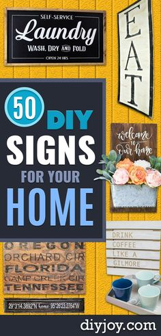 Diy Signs To Make For Your Home Rustic Wall Art Ideas And Homemade Sign For Bedroom, Kitchen, Farmhouse Decor Stencil Pallet And Distressed Vintage Home Decor Signs, Diy Signs, Funny Signs, Cheap Home Decor, Diy Home Decor, Wall Signs, Funny Memes, Rustic Wall Art, Rustic Walls