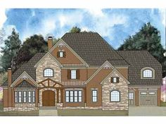 European Elevation (HWBDO64996) | French Country House Plan from BuilderHousePlans.com