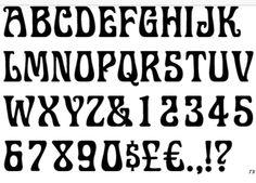 Art nouveau lettering