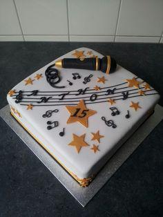 Microphone singer cake