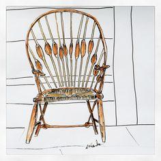 #wegnerchairs #chairs #ebeniste #peacock #fauteuil #krzesło #interiordesign #architecture #deco #art #dessin #sketchbook #drawing #illustration #interior #meubleenbois #classic