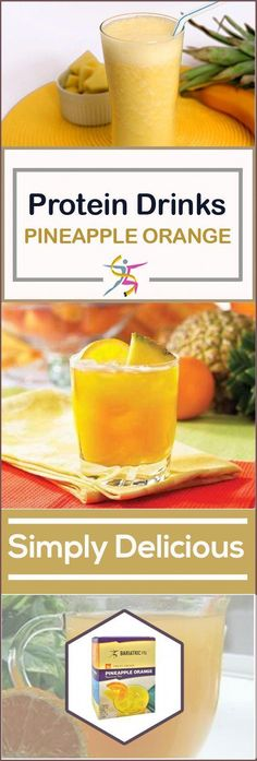 BariatricPal Fruit Protein Drinks - Pineapple Orange:A fruit smoothie can land you in trouble with the sugar and calories, but you can also choose a high-protein BariatricPal Ready to Shake Instant Protein Drink – Pineapple Orange instead. It has 15 g Protein Smoothies, Smoothie Prep, Protein Snacks, Apple Smoothies, Smoothie Recipes, High Protein, Healthy Protein, Protein Fruit, Detox Smoothies