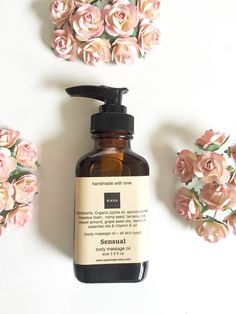 Body Massage Oil Sensual Massage Oil Romantic by KayaSoaps on Etsy
