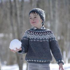 pull jacquard en tricot pour garçon