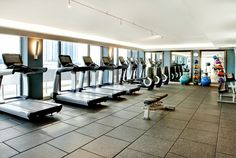 Get your workout on with a beautiful view in our new fitness center.