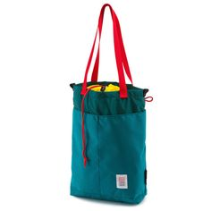 Topo Designs Cinch Tote Turquoise Made in USA