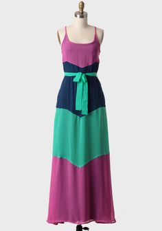 Resort Colorblocked Maxi Dress By Tulle  at #Ruche @Ruche