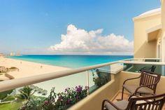 cuarto hotel gran caribe cancun con vista al mar