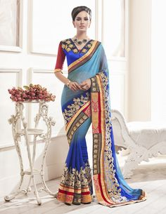 Buy This Blue Shaded Metal Chiffon Heavy Zari Embroidery Work Designer Party Wear Saree.  Buy Now:- http://www.lalgulal.com/sarees/blue-shaded-metal-chiffon-heavy-zari-embroidery-work-designer-party-wear-saree-714  Cash On Delivery & Free Shipping only in India.For Other Query Just Whatsapp Us on +91-9512150402 Or Mail Us at info@lalgulal.com.