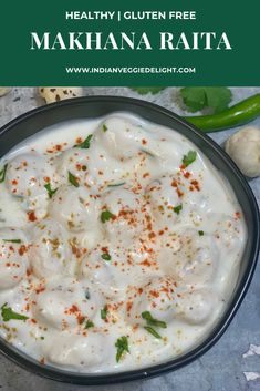 An easy and healthy raita made with yogurt (curd) , roasted makhana (puffed lotus seeds) and Indian spice powders. This is also the perfect vrat recipe if you are fasting during Navratri. Spicy Recipes, Indian Food Recipes, Vegetarian Recipes, Healthy Recipes, Oats Recipes, Snacks Recipes, Delicious Recipes, Cooking Recipes, Tasty Videos