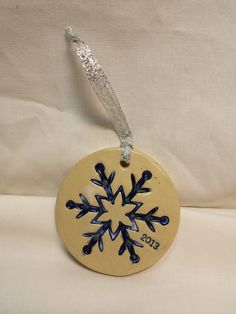 JustinCrediblePottery | Gorgeous hand made Christmas ornament