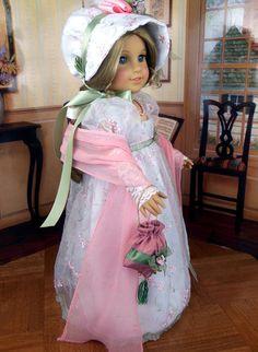 1800s Regency Gown Jane Austen Fits American Girl Caroline Littlecharmers | eBay Sold 2/25/13 for $205.06