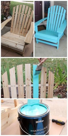 Adirondack Chair - the painted version - Sugar Bee Crafts