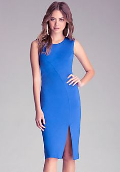 High-Slit Midi Bebe Dress! Love this dress if you have curves looks awesome!