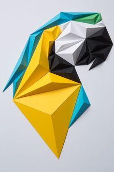 Paper Art by Paperpan Geometric Origami, Origami Design, Geometric Art, Origami Wall Art, Paper Crafts Origami, Oragami, Wooden Wall Art, Diy Wall Art, Paper Folding Art