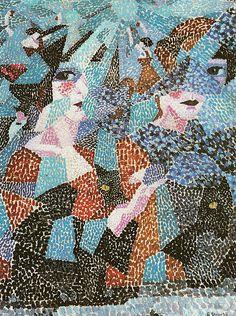 Gino Severini, 1911, La Danseuse Obsedante (The Haunting Dancer, Ruhelose Tanzerin), oil on canvas, 73.5 x 54 cm