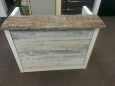 Sales Counter/Retail Counter from Reclaimed Wood by GreenCleanDesigns