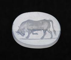 Scaraboid gem with a bull | MFA for Educators