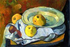Paul Sérusier - 1891c Plate of Apples oil on canvas