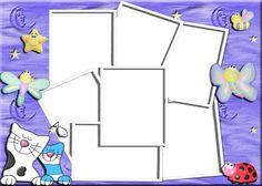 Resultado de imagen para marcos para varias fotos infantiles