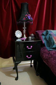 purple gothic bedroom - Google Search