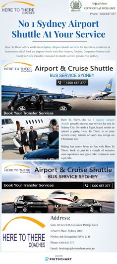 Here To There, the no 1 Sydney airport shuttle proudly present our service for you in Sydney City. To catch a flight, board cruise or attend a party, Here To There is at your service every minute of every day except on Christmas day.