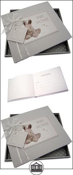 Tarjetas de algodón blanco Baby Shower Libro de Visitas (plata conejito)  ✿ Regalos para recién nacidos - Bebes ✿ ▬► Ver oferta: http://comprar.io/goto/B015EGISJY