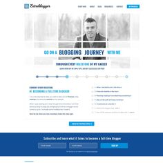 Create a unique and modern design for a new website called Entreblogger by Greg36